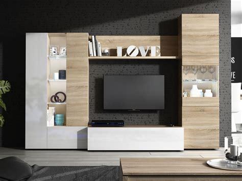 Composición muebles de salón apilables, para tv y vitrina ...