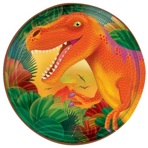 Compra Platos dinosaurio pequeños  8  y recíbelo en 24h ...