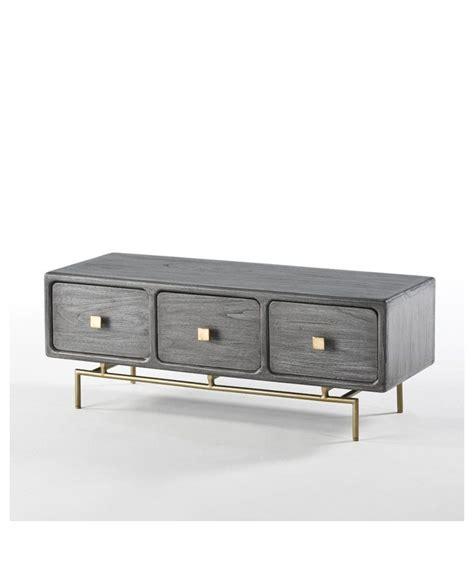 Comprar Mueble De Tv Con Tres Cajones Color Gris Moderna ...
