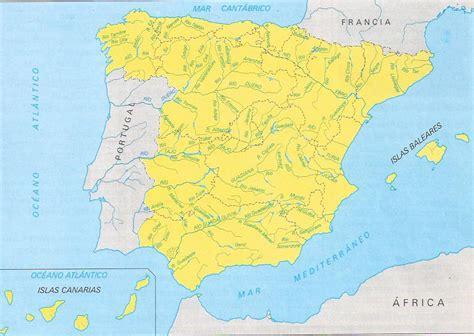 Comprendemos: Mapa de los ríos de España