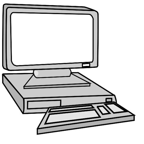 Computer Clipart Black And White   ClipArt Best