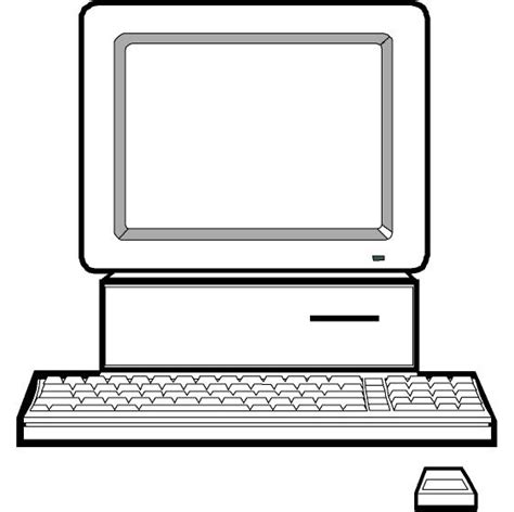 Computer Clipart Black And White | Clipart Panda   Free ...