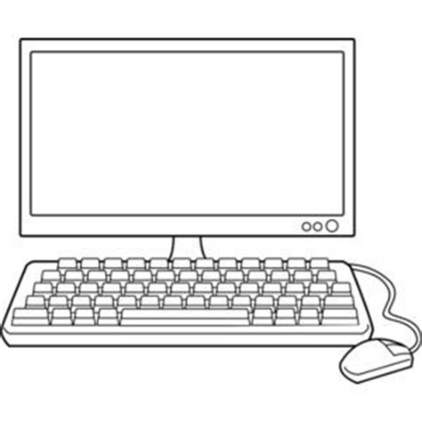 computer clipart black and white   Recherche Google ...
