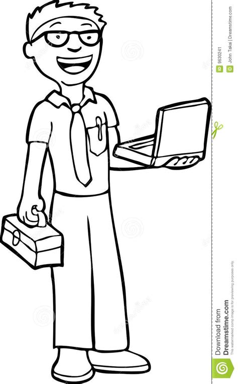 Computer Engineer Clipart Black And White   ClipartXtras