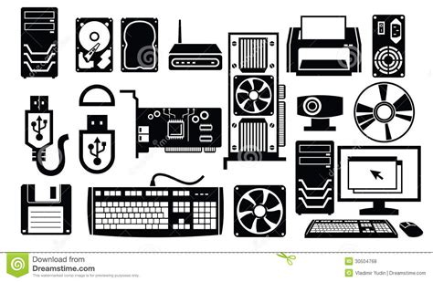 Computer hardware icon stock vector. Image of rom, cable ...