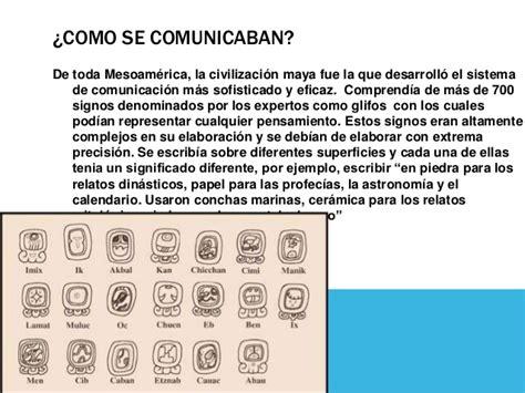 Comunicación de los mayas
