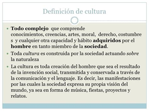 Concepto cultura