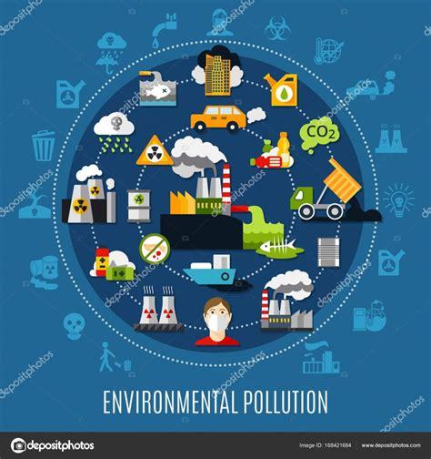 concepto de contaminación ambiental — Vector de stock ...