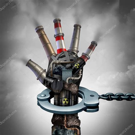 Concepto de contaminación ilegal — Fotos de Stock ...