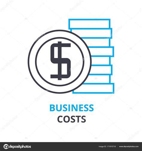 concepto de costos de negocio, esquema icono, signo lineal ...