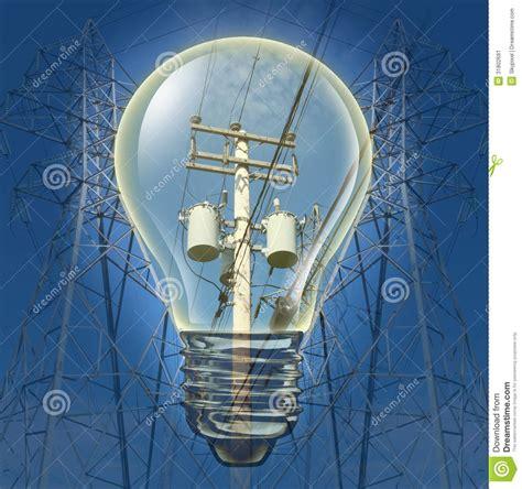 Concepto De La Electricidad Stock de ilustración ...