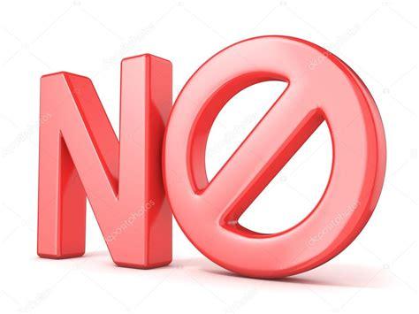 Concepto de signo prohibido. No de palabra con el símbolo ...