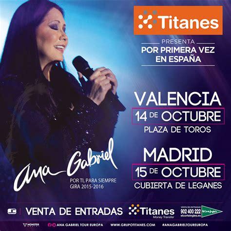 Concierto Ana Gabriel   Leganés | Entradas El Corte Inglés