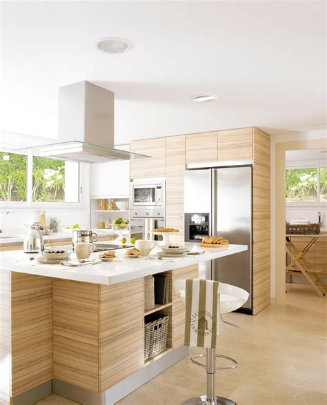 Concreto y Madera en la cocina   Enlace Arquitectura