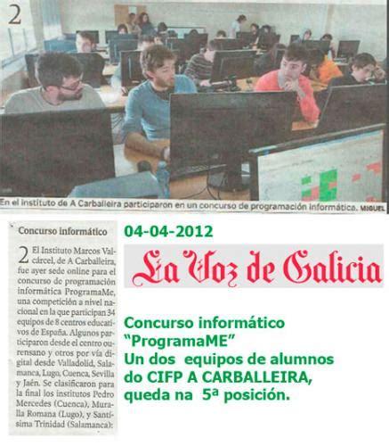 Concurso informático ProgramaMe 2014. | C.I.F.P. A ...