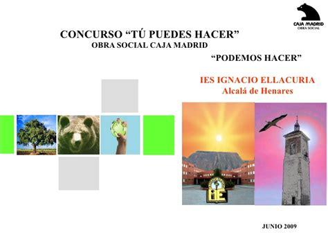 Concurso Tu Puedes Hacer IES Ignacio Ellacuria