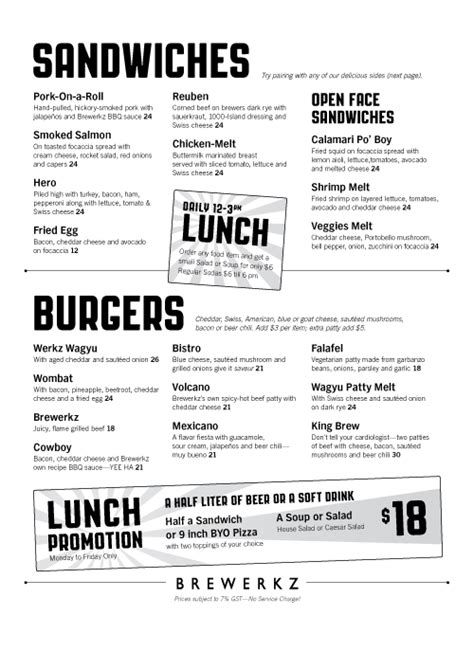 condensed lunch menu | keynote | Pinterest | Lunch menu ...