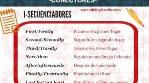 Conectores en inglés  PDF, ejemplos y pronunciación