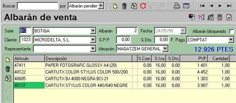 Confección de albaranes y pedidos