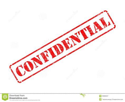 Confidencial En Sello De Goma Rojo. Imagen de archivo ...