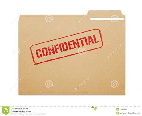 Confidential Folder stock illustration. Image of ...