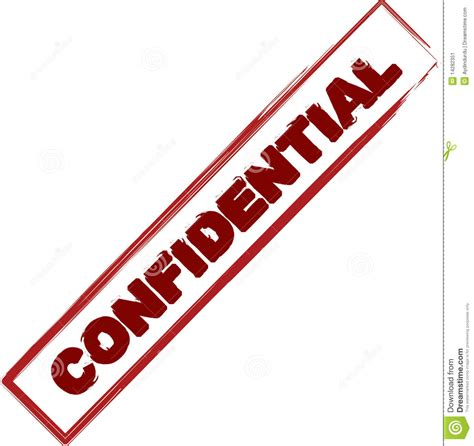 Confidential Stamp Stock Image   Image: 14282351