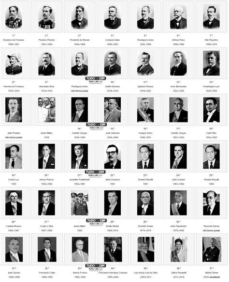 Conheça os 37 presidentes que já governaram o Brasil ...