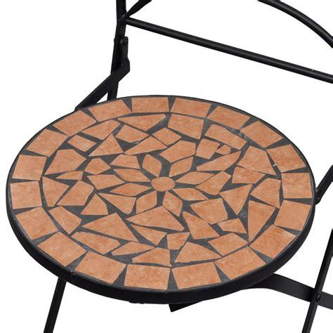 Conjunto de 2 sillas de jardín mosaico terracota tienda ...
