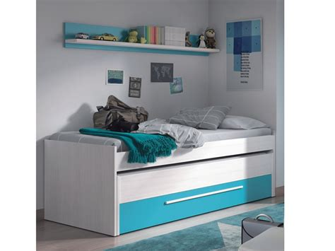 Conjunto de cama doble compacta y estante juvenil en oferta
