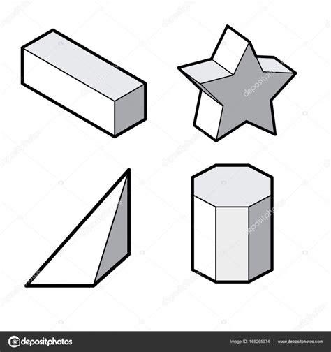 conjunto de figuras geométricas 3d básicas. Vector de ...