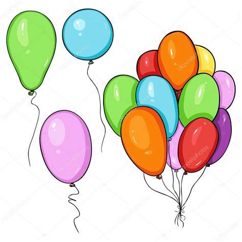 Conjunto de globos de color de dibujos animados — Vector ...