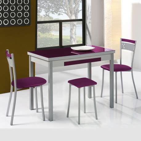 Conjunto de mesa extensible alas, sillas y taburetes de ...