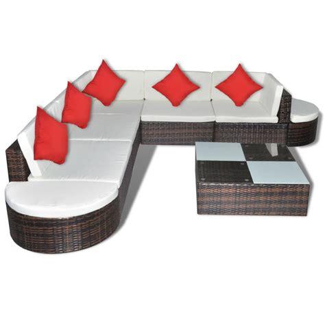 Conjunto de muebles de poli ratán marrón de jardín tienda ...