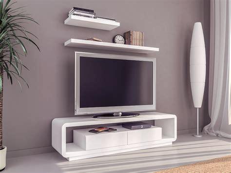 Conjunto formado por mesa tv y dos estantes