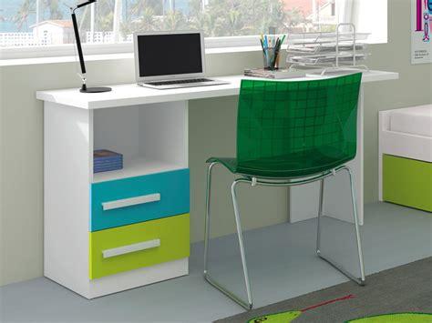 Conjunto mesa de escritorio para jóvenes, 2 cajones y pie ...