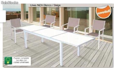 Conjunto mobiliario jardin mesa con cristal+4 sillas ...