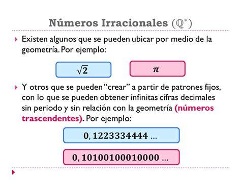 Conjuntos numéricos Números irracionales y reales   ppt ...