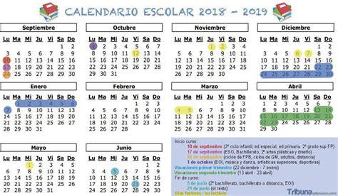 Conoce el calendario escolar 2018-2019