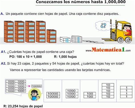 CONOCIENDO LOS NÚMEROS HASTA UN MILLON 1 000 000 EJEMPLOS ...