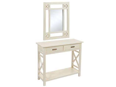 Consola entrada con espejo estilo nórdico - Muebles online