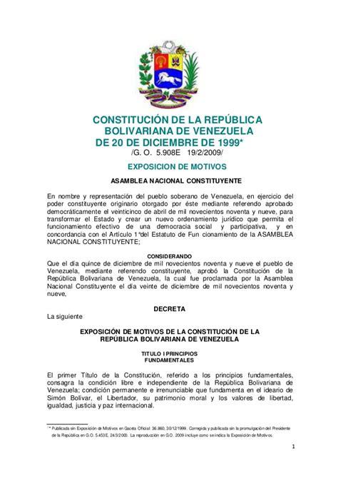 Constitución de la república bolivariana de venezuela con ...