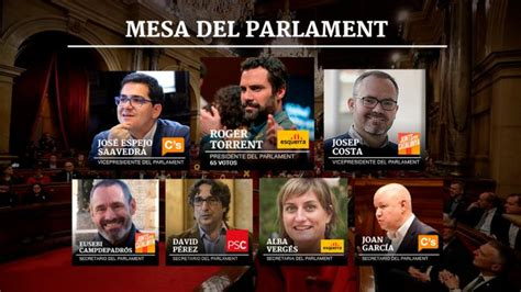 Constitución Parlament Cataluña: Así queda la Mesa del ...