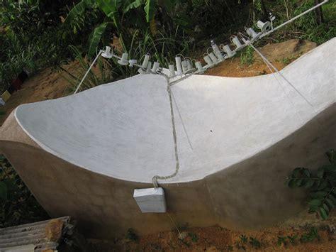 Construa Antena parabólica caseira Com Tijolos e Cimento | Te1