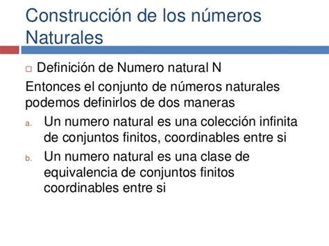 Construcción de los números naturales