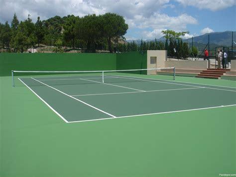 Construcción de pista de tenis con resinas sintéticas en ...