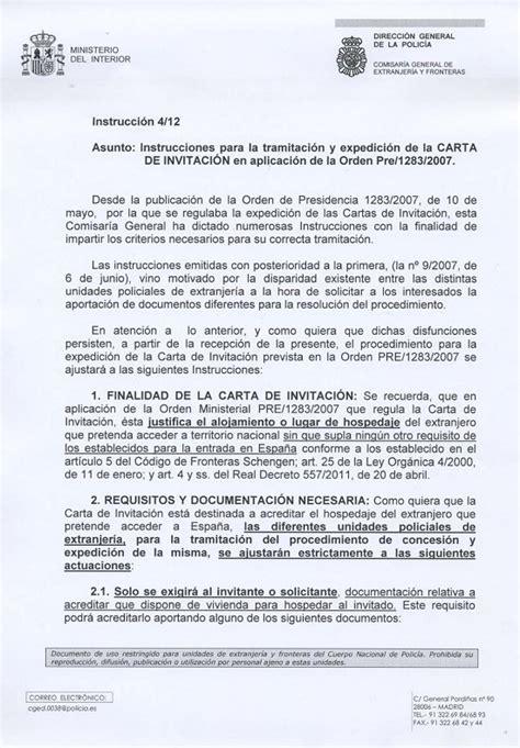 Consulta de extranjería: La carta de invitación   Aquí Tetuán