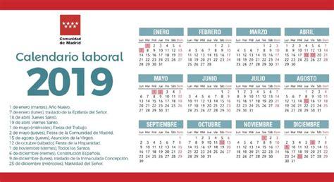 Consulta el calendario laboral 2019 en la Comunidad de ...