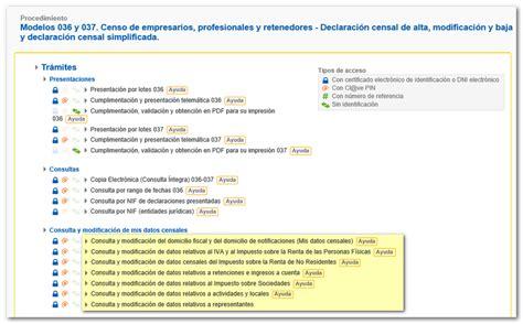Consulta y modificación de los datos censales - Agencia ...