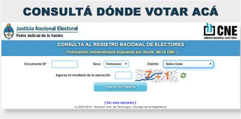 Consulte dónde votar en Tucumán – Padrón Electoral 2017 ...