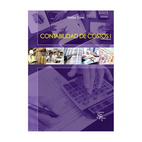 Contabilidad de costos I - Editorial San marcos